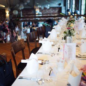 Hochzeitstisch - Eingedeckt - Restaurant Werkstatt - Maxi Gastro, die Gastronomie im Maxipark Hamm.