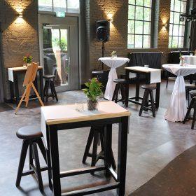 Empfangsbereich - Hochzeitsfeier - Restaurant Werkstatt - Maxi Gastro, die Gastronomie im Maxipark Hamm.