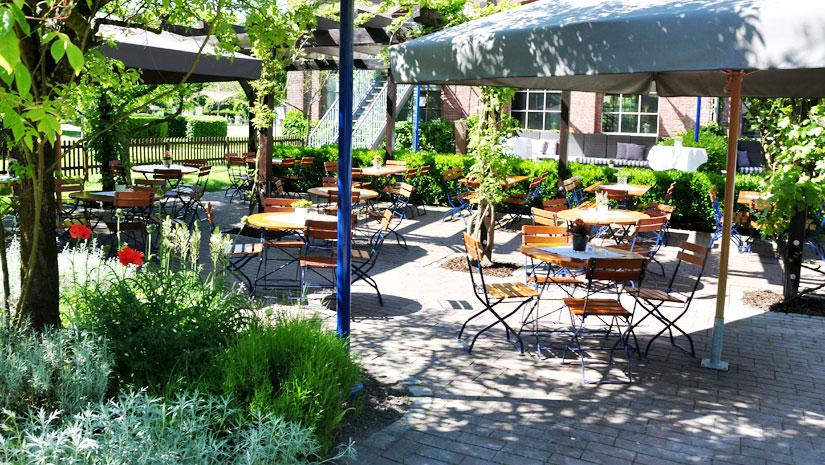 Biergarten - Restaurant Werkstatt - Maxi Gastro, die Gastronomie im Maxipark Hamm.