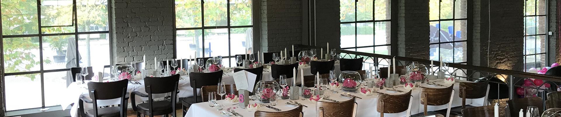 Eingedeckter Tisch - Restaurant Werkstatt - Maxi Gastro, die Gastronomie im Maxipark Hamm.